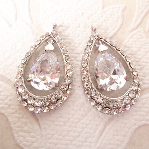 Classic Wedding Drop Earrings Components made w/ Swarovski Crystal Art Deco Bridal Findings