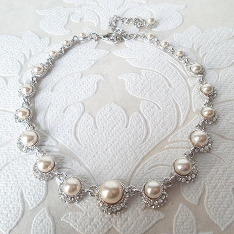Classic Bridal Choker Necklace