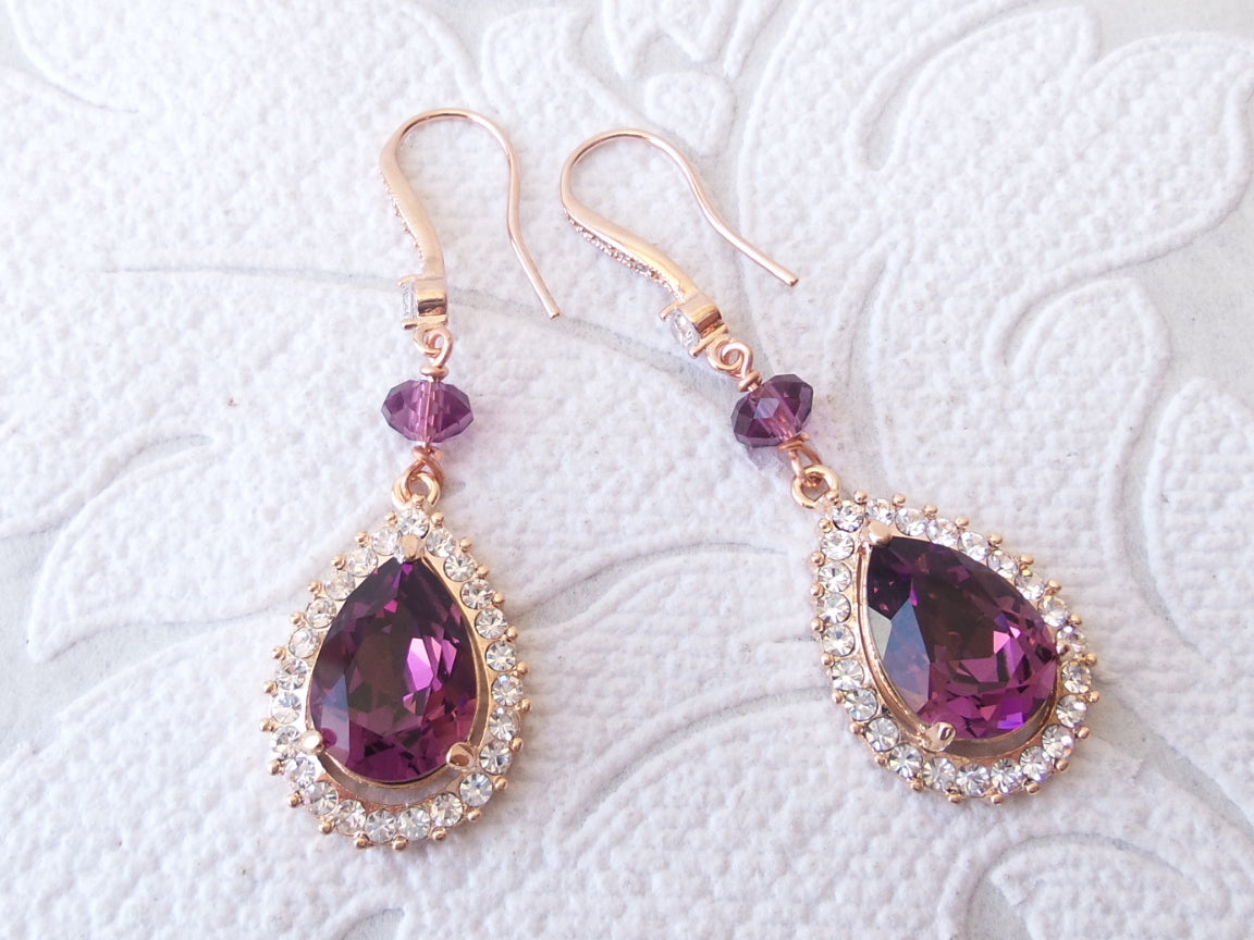 Long Custom Color Drop Earrings