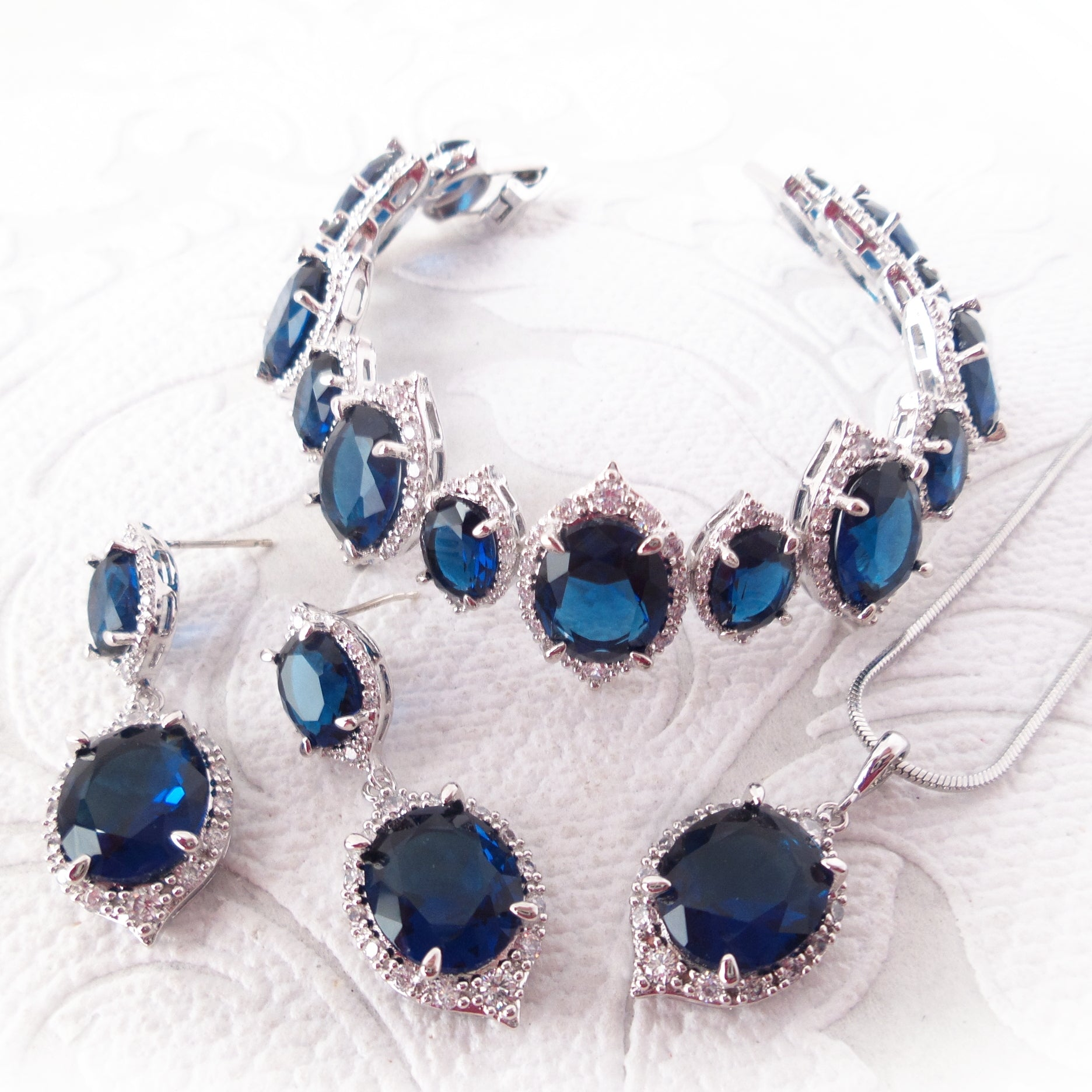 Cubic Zirconia Bridal Set