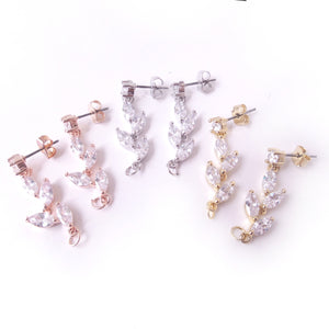 CZ Vine Earring Body Component Findings