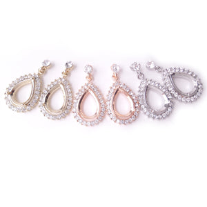 Halo Drop Earring Components for 10 x 14mm Pear Rhinestone Setting Finding