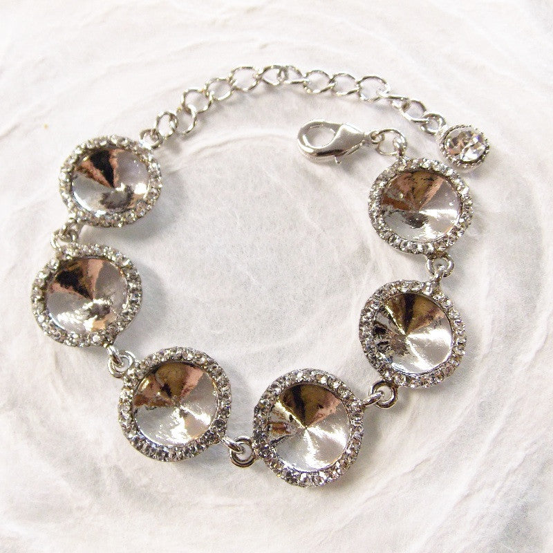 Halo Bracelet Setting for 12mm Rivoli Rhinestone Components