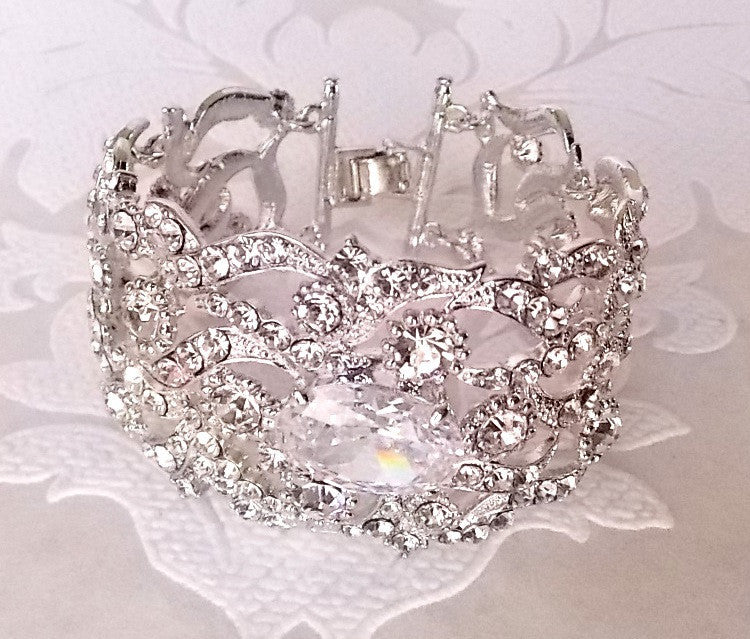 Art Deco Bridal 1920s Wedding Bracelet