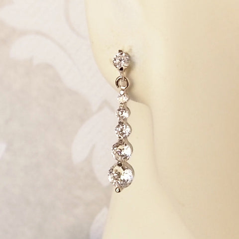 Journey Drop CZ Earrings