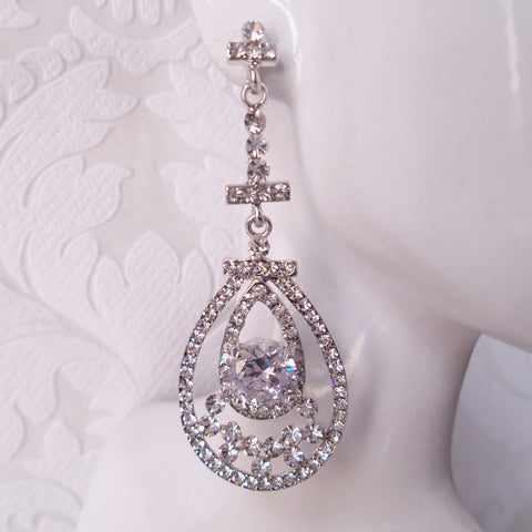 Vintage Glam Bridal Chandelier Earrings