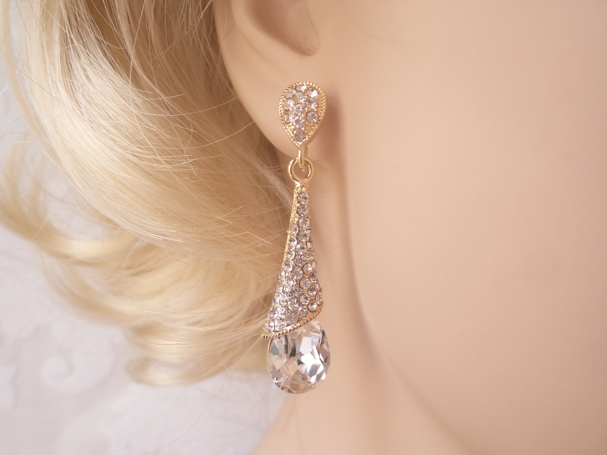 Modern Wedding Drop Earrings