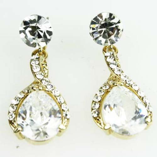 Twist Drop Bridal Earrings