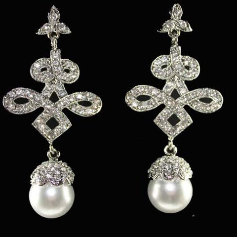 Art Deco Prom Chandelier Drop Earrings made w/ Swarovski Crystal Bridal Wedding