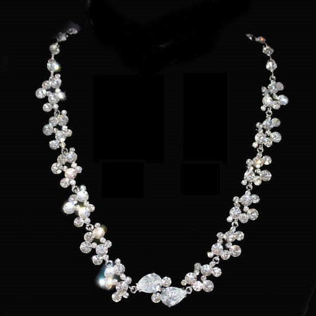 Iced Statement Bridal Necklace