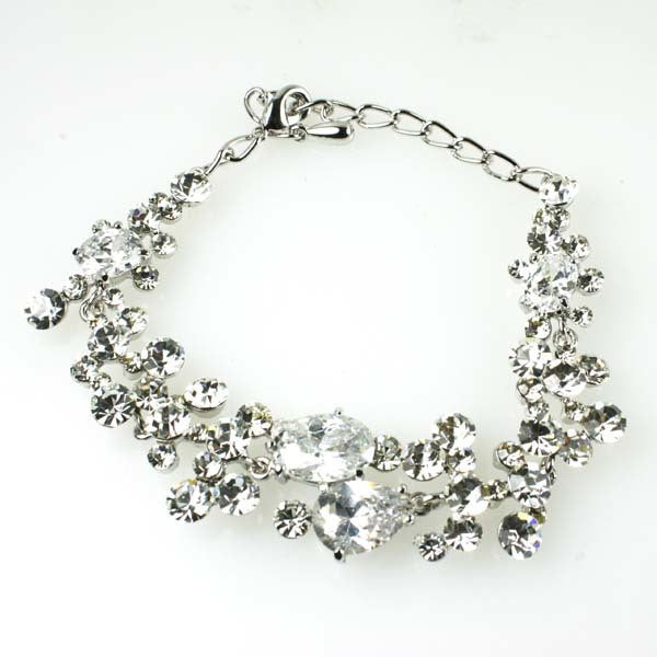 Iced Glam Prom Bracelet made w/ Swarovski Crystal Art Deco Wedding Bridal Jewels