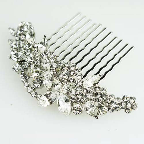 Butterfly Bridal Hair Comb by SNK with Swarovski Crystal Headpiece
