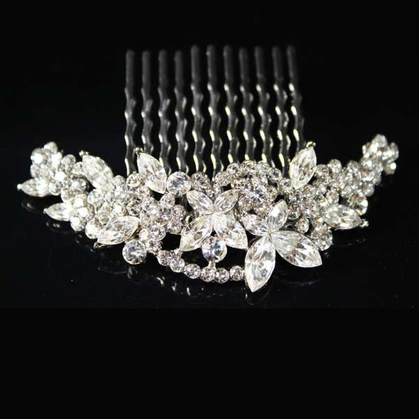 Butterfly Bridal Bride Wedding Hair Comb SNK Clear made with Swarovski Crystal