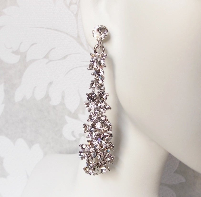 Pave Bridal Earrings