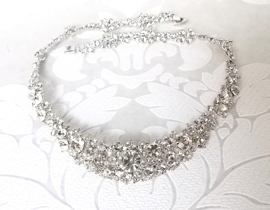 Pave Bridal Necklace
