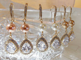 Jazzy 1920s Wedding Chandelier Earrings with Handwrapped Swarovski Pearls