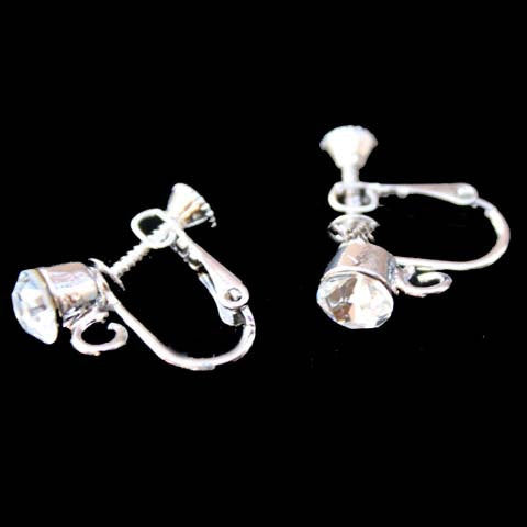 Clipon Converter with Swarovski Crystal Screwback Earring Findings
