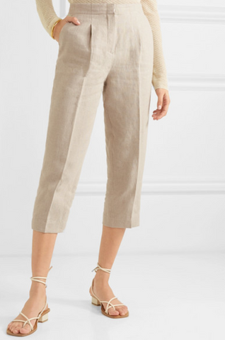 MICHAEL MICHAEL KORS Cropped linen tapered pants