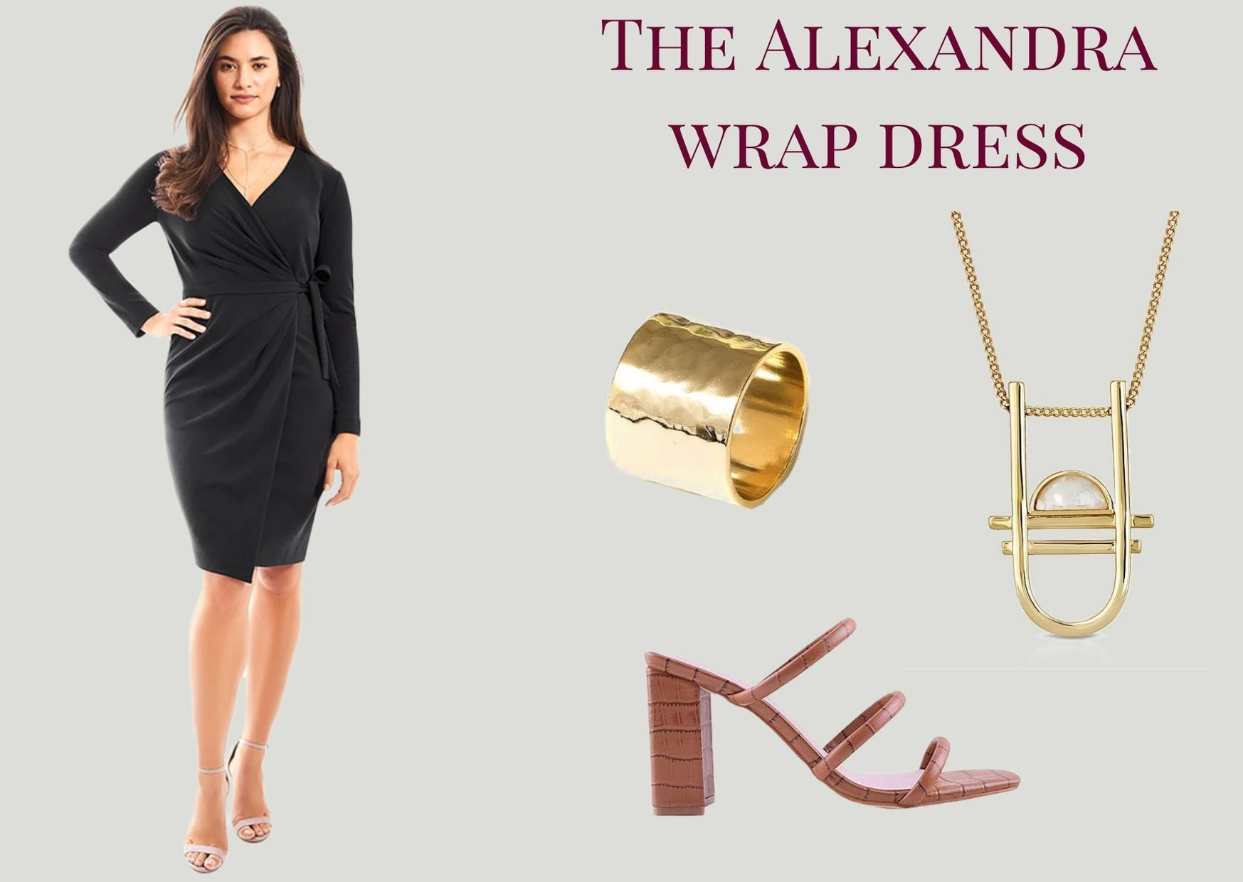 Alexandra Wrap Dress Queen Anna House of Fashion