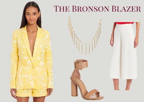 amanda uprichard yellow bronson blazer