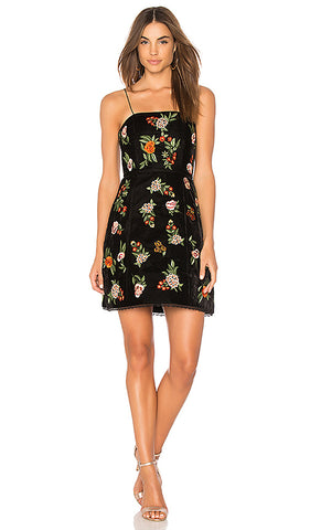 "Alice + Olivia ""Launa"" Embroidered Dress"