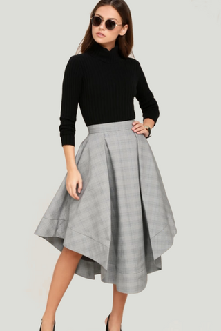 "C/MEO Check ""We Woke Up"" Skirt"