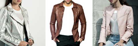 womens and mens bano eemee leather jackets