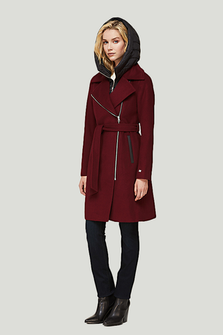 soia & kyo mixed media coat