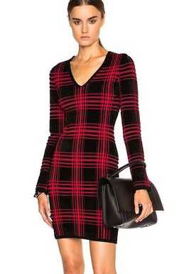 Alexander Wang Buffalo Plaid Dress