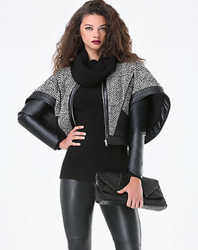 Bebe Cape Sleeve Jacket