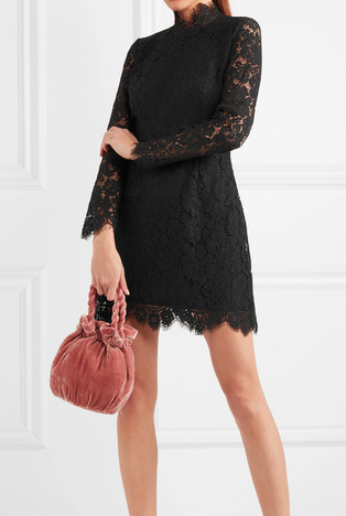 Ganni Lace Mini Dress
