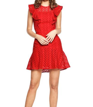 Kira Crochet Ruffle Dress