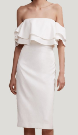 "Keepsake ""No Reason"" Ivory Midi Dress"