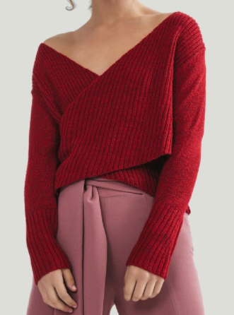 "C/MEO Crimson ""Feature"" Wrap Top"