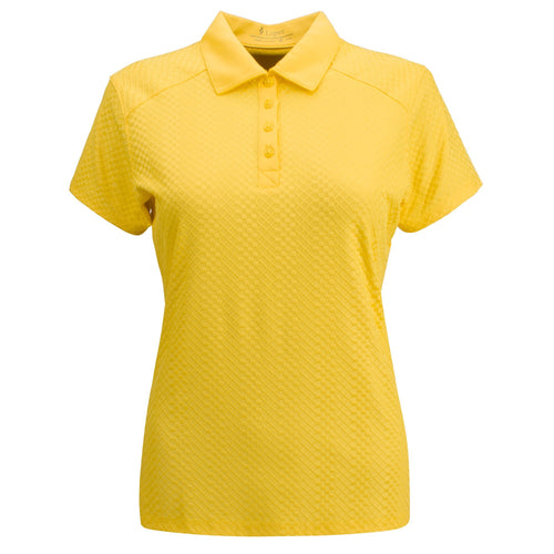Nancy Lopez Golf Grace Short Sleeve Polo Plus - Daffodil