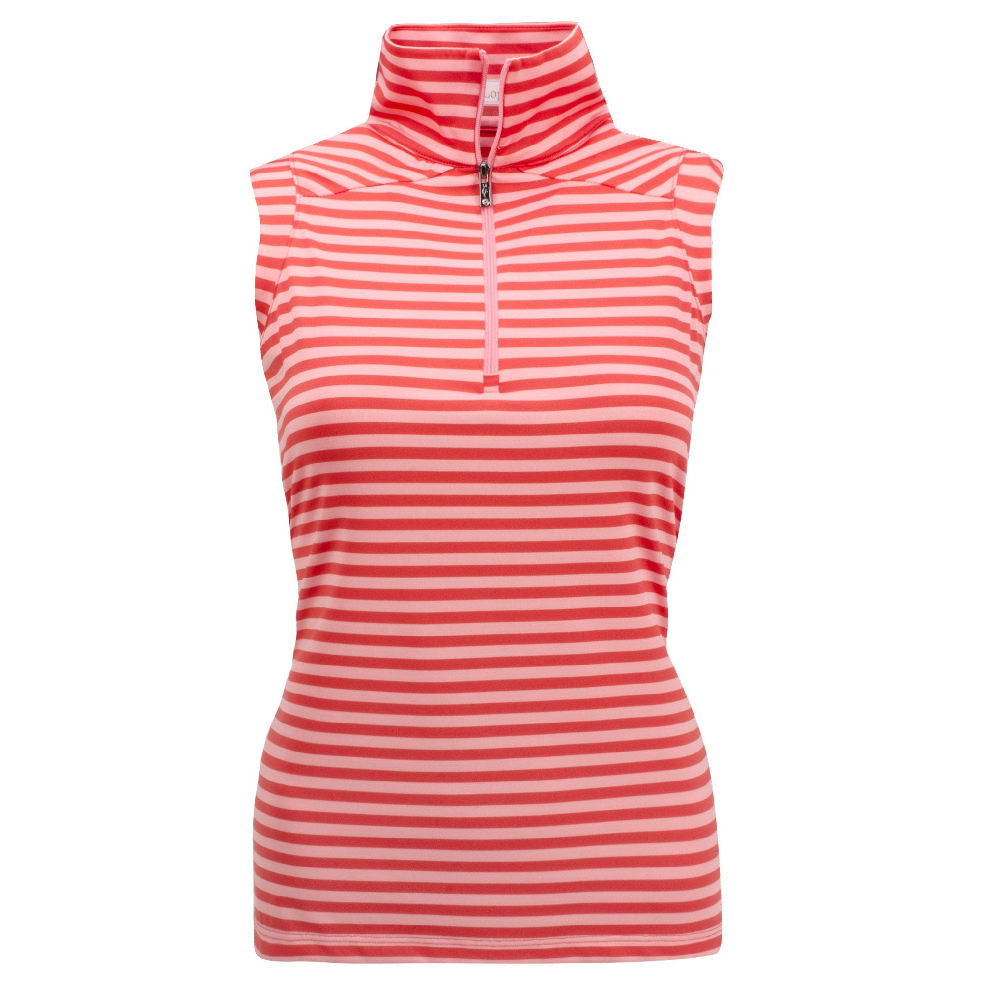 Nancy Lopez Flight Sleeveless Polo Fiery Red/Flamingo