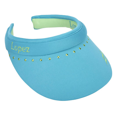 Nancy Lopez Club Reverse Clip Visor Teal/Fern