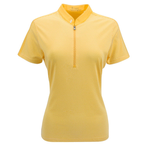 Nancy Lopez Golf Flex Short Sleeve Polo Plus - Daffodil