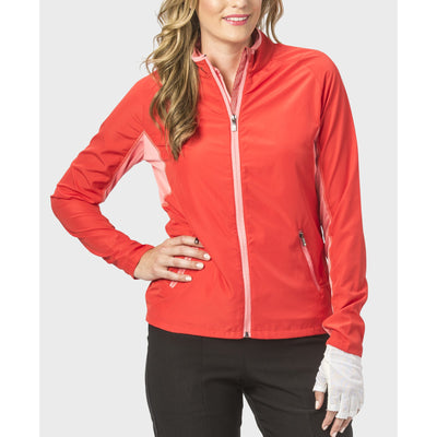 Nancy Lopez Compass Jacket Fiery Red/Flamingo