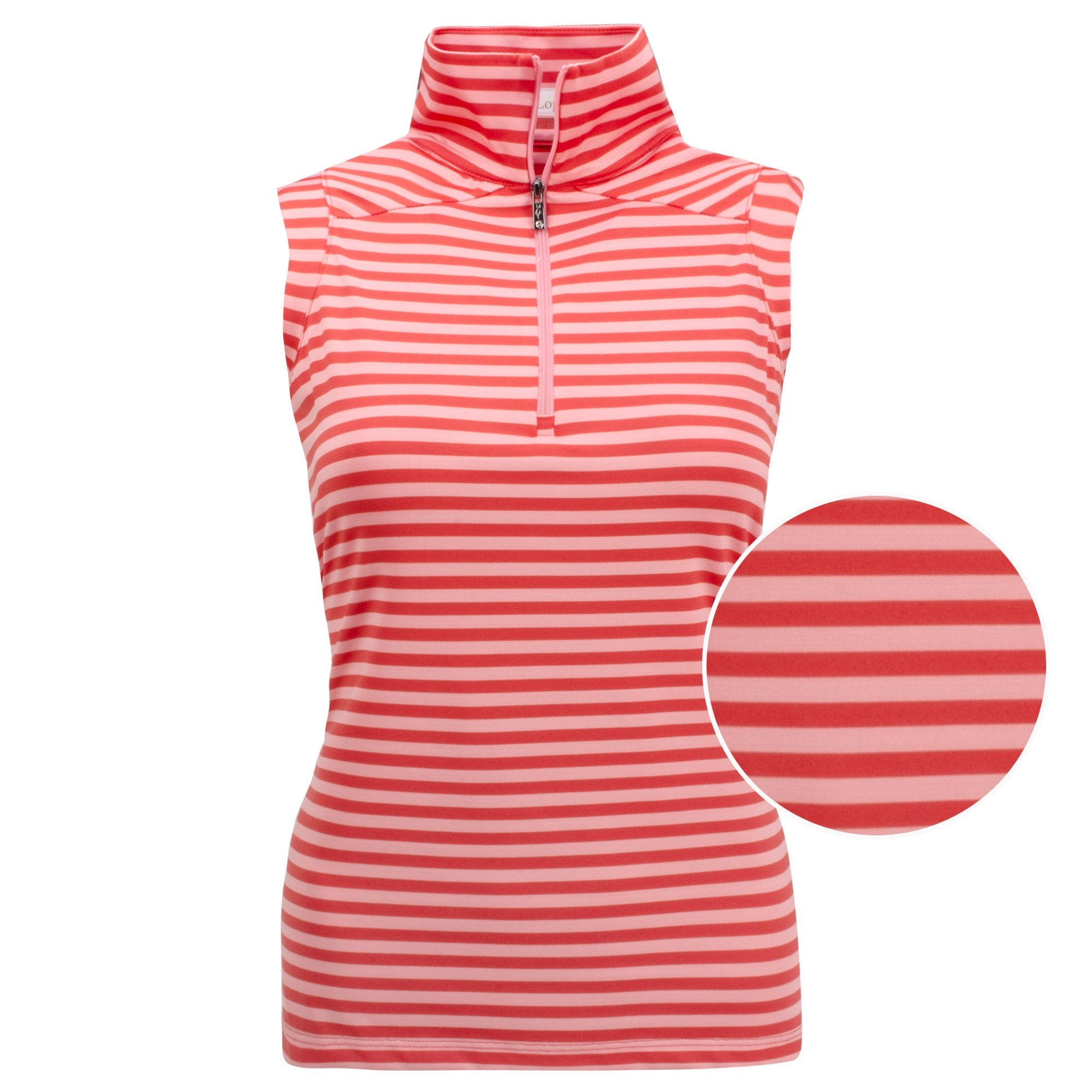 Nancy Lopez Flight Sleeveless Polo Plus Fiery Red/Flamingo