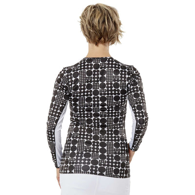Nancy Lopez Aspiration Long Sleeve Tee Black Multi