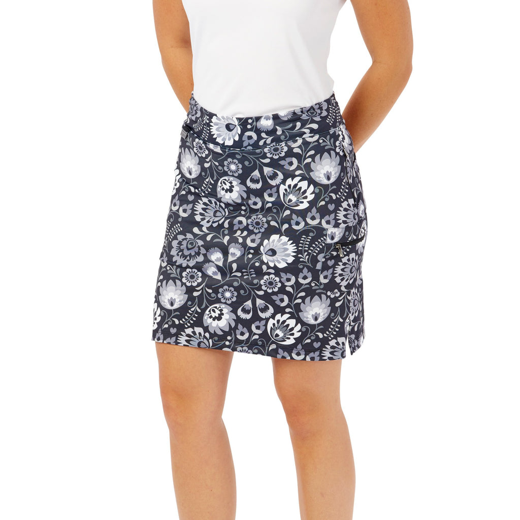 Nancy Lopez Golf Beauty Print Club Skort Black Multi