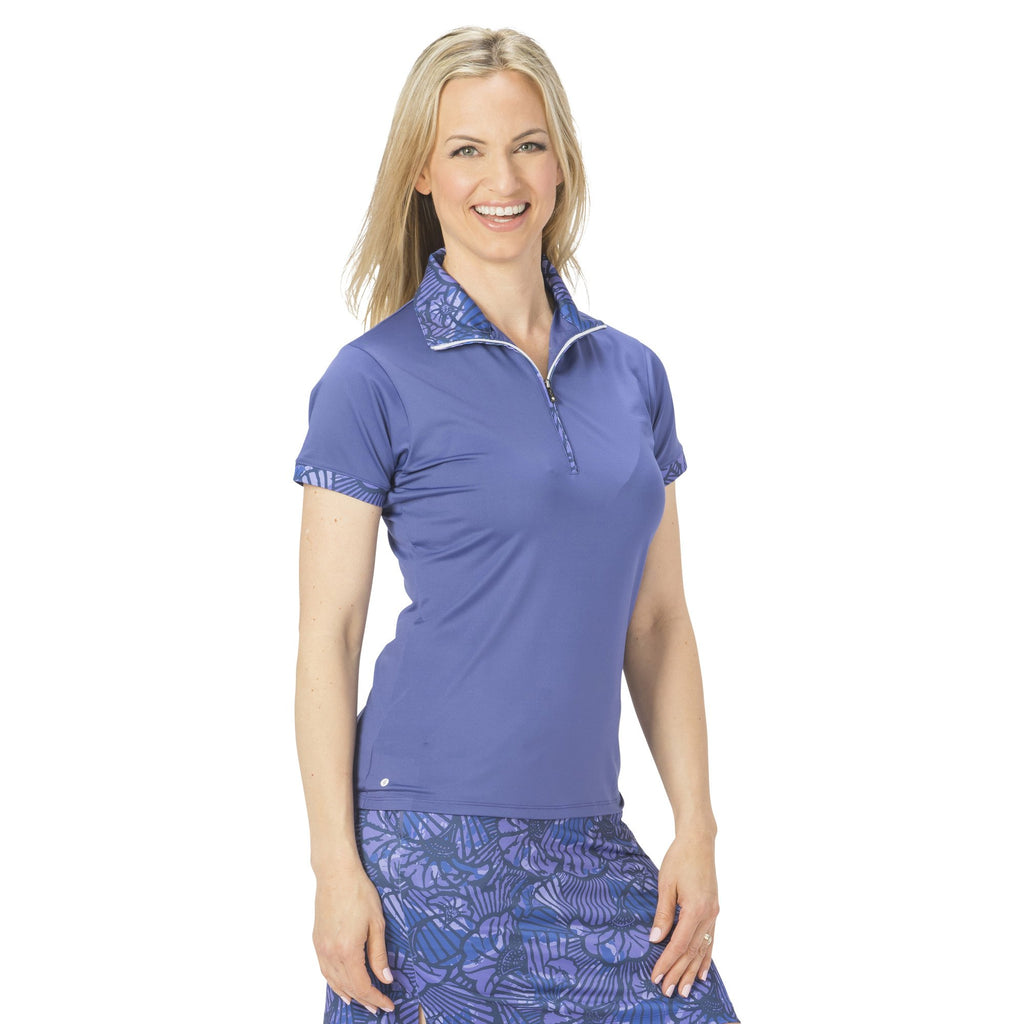 Nancy Lopez Fever Short Sleeve Polo Midnight Multi