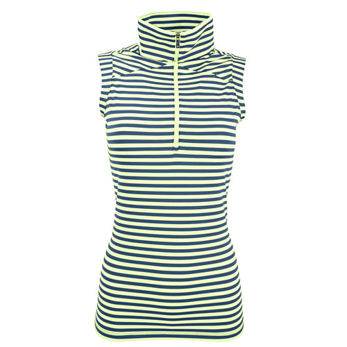 Nancy Lopez Golf Flight Sleeveless Polo Plus Midnight/Lime