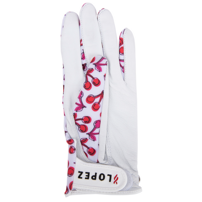 Nancy Lopez Golf Full Finger Cherry Glove