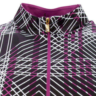 Nancy Lopez Glide Short Sleeve Polo Plus Iris/Black Multi