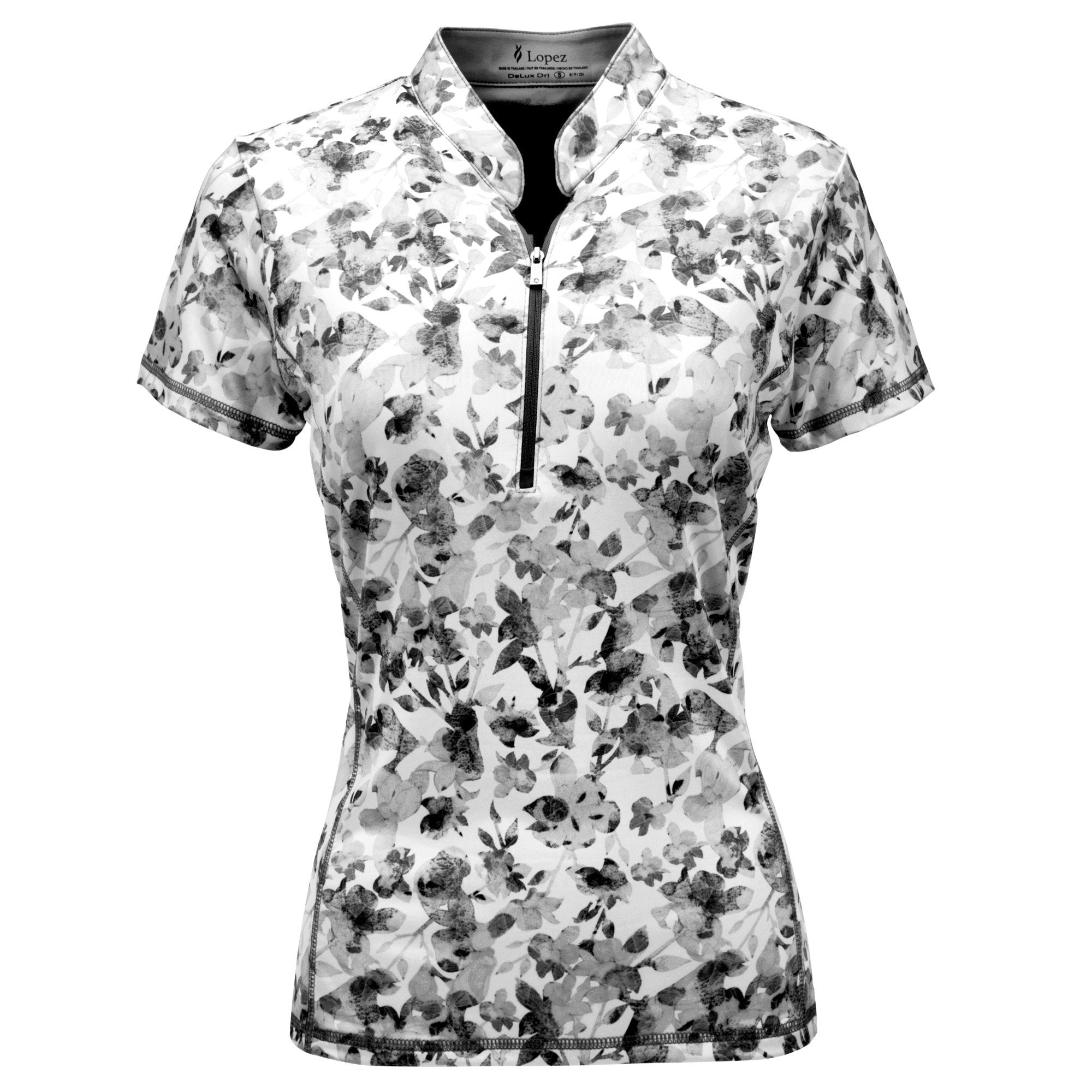 Nancy Lopez Glimmer Short Sleeve Polo Black Multi