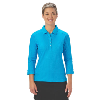 Nancy Lopez Golf Grace 3/4 Sleeve Polo