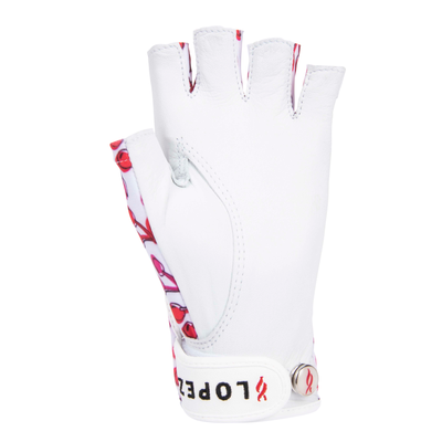 Nancy Lopez Golf Half Finger Cherry Glove