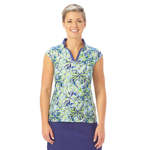Nancy Lopez Golf Hope Sleeveless Polo Midnight Multi